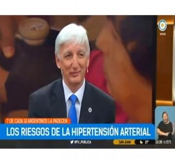 Siete de cada diez argentinos sufre Hipertensión Arterial. Entrevista al Dr. Marcos Marín en la TV Pública